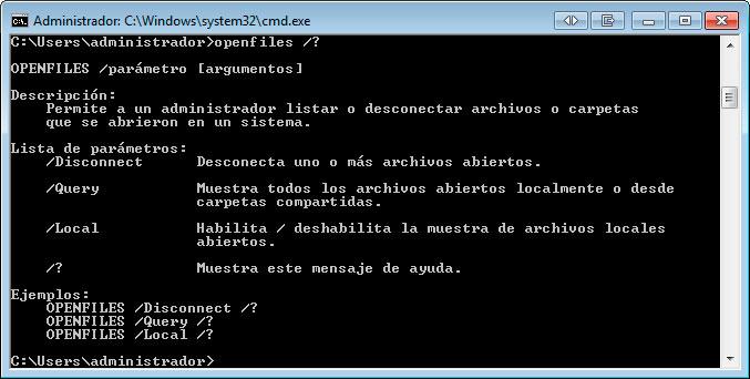 openfiles-comando