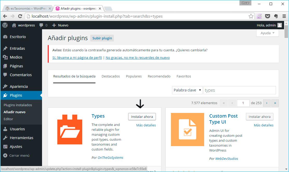 Types-plugin