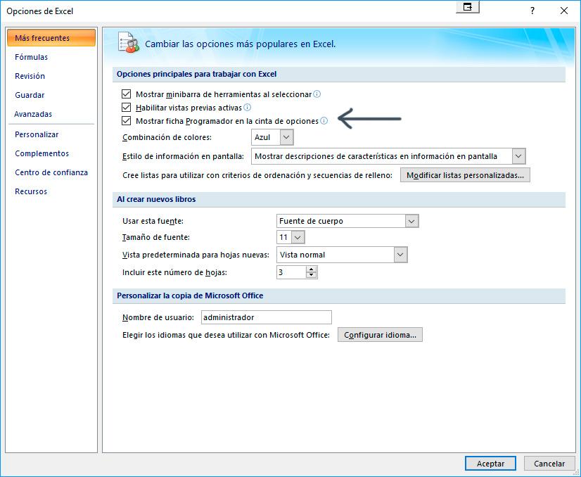 Palentino Blog - Conexión desde Excel con una Base de datos.